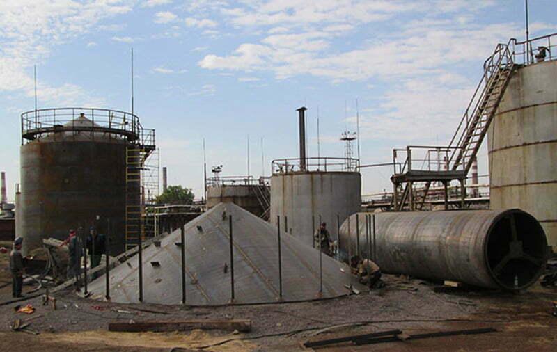 Монтаж вертикальных резервуаров в Киеве и по Украине